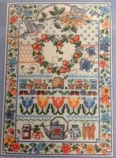 SIGNS OF SPRING SAMPLER Cross Stitch Kit Ursula Michael Jeanette Crews Designs