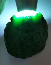 Polished Ice Green Burmese Jadeite Raw Stone/抛光糯冰晴绿缅甸翡翠原石