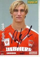 FOOTBALL carte joueur RALPH SPIRK équipe GRAZER AK signée