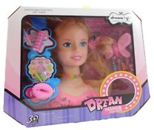 Children Kids Girls Hair Styling Dream Dolls Head Play Set With Accessories