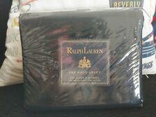 NOS Ralph Lauren Polo Queen Size Black Flat Sheet