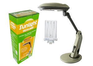 Full Spectrum SunLight Lamp Desk Lamp Energy Saver Rocker On/Off Switch SL5720RS