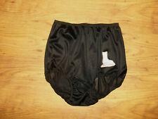 "Vintage 1950s/60s Black Nylon ""Saturday"" Full Panties Knickers S/M"