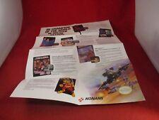 Konami Be Champion of the World Nintendo NES Fldble Insert TMNT III Bucky Contra