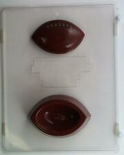 FOOTBALL POUR BOX CLEAR PLASTIC CHOCOLATE CANDY MOLD S057