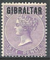 Gibraltar 1886 deep-lilac 6d mint SG6