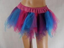 Para mujer azul y púrpura Enagua Ideal Tutu Corsets Fancy Dress Costume