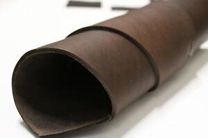 Leder Zuschnitte + Riemen, Antikleder, Fettleder, Dickleder 4,2 + mm, braun