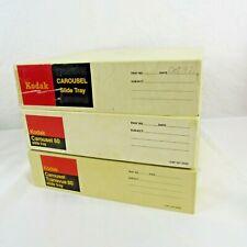 Kodak Carousel 80 Slide Tray 35mm Slides Photo Lot of 3 Vintage