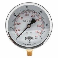 Winters Pem222lf Gauge,Pressure,0 To 60 Psi,4 In.
