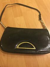 Preowned Christian Dior Black Patent Leather Shoulder Bag Handbag!! JAETOL