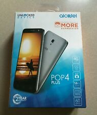 "Alcatel Pop 4 Plus 5.5"" 16Gb (Brand New) Android Smartphone -Unlocked- Silver"
