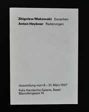 Felix Handschin Galerie, Basel # MAKOWSKI  Anton HEYBOER # 1967, mint-