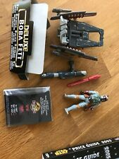 Star Wars Deluxe figure Boba Fett with wing blast rocket pack 1996 Loose