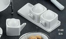 """HOFF INTERIEUR 1146 saucen-set """" Gourmet """" porcelaine 4 pièces öl-set"""