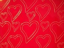 Aufkleber, Herzen gold/rot/silber Starform 120