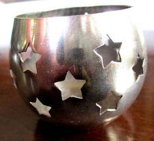 Windlicht mit Sternen_Metall_evtl. versilbert_Shabby Chic_Landhaus_vintage
