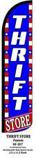 THRIFT STORE PATRIOTIC WINDLESS SWOOPER FEATHER BANNER FLAG SIGN
