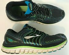 Brooks Glycerin 12 Mens Running Shoes Size 7.5 Black/Green/Blue Fast Shipping