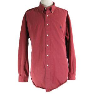 Polo Ralph Lauren shirt  Blake men's Extra large red long-sleeve vintage
