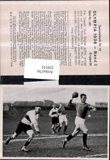 239155,Sammelbild Olympia 1936 Gruppe 56 Bild 140 Handball Polizei geg. Hindenbu