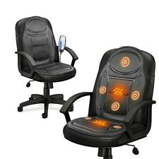Electric Heated Back & Seat Massager Chair Cushion Remote Control