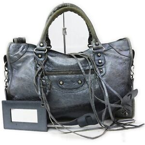 Balenciaga Hand Bag Town Navy Blue Leather 1718219