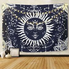 Dark Blue Sun Tapestry Wall Mandala Tapestry Wall Hanging Bohemian Bedspread