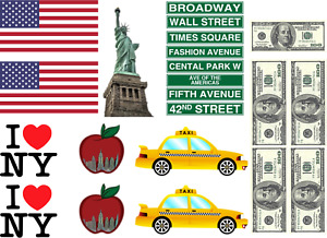 New York America topper Decoration Icing Wafer or Wafer card