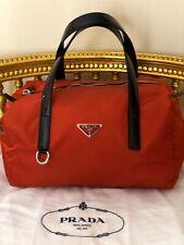 b52823b2b4 PRADA Tessuto bowlers bag purse handbag tote nylon Made in Italy orange  pumpkin