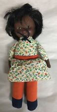 """Fisher Price Billie Doll 10"""" 1978 African American Detachable Skirt"""