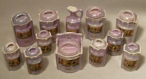 Vintage Miniature Child's Canister Set
