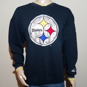 Vintage Starter Pro Line Authentic NFL Pittsburgh Steelers Sweater XL Black