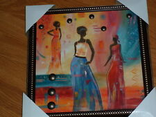 # African Women Wall Hanging Picture Colorful New