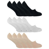 SOCK SNOB - 4 Pack Unisex Premium Bamboo Ultra Low Cut No Show Invisible Socks