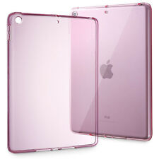 For New iPad 5th 9.7 2017 Soft Transparent Ultra-Thin TPU Back Case Cover Purple
