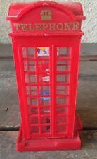 British Telephone Booth Plastic Red Still Bank London CUTE Phone Book Call Box
