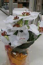 "(6) 14"" Poinsettia Decoration Centerpiece Topiary"
