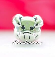Authentic PANDORA Playful Pig Sterling Silver Charm 791746