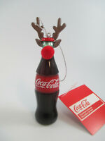 Coca-Cola Kurt Adler Rudolph Bottle Antlers Red Nose Holiday Christmas Ornament