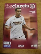 24/09/2011 Chelmsford City v Boreham Wood  . Any faults with this item should al