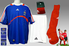 "New adidas FRANCE Football Kit Shirt Shorts Socks Large Boys ( Chest 30/32"")"