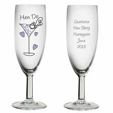 Personalised Hen Night Do Party Champagne Flute Gift Idea Accessories - P0307C25