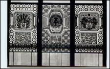 DDR Postkarte ANNABERG-BUCHHOLZ Sachsen Festhalle Bleiglasfenster im Saal s/w AK