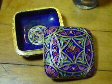 Antique Floral Flower Mandala Intricate Russian Cloisonne Gift Trinket Box