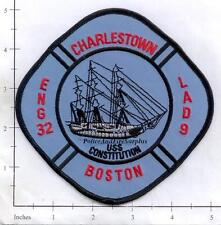 Massachusetts - Boston Engine 32 Ladder 9 MA Fire Dept Patch - USS Constitution