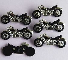 MOTORBIKE - Classic Motorcycle Bike Biker Transport Dress It Up Craft Buttons