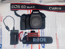 Canon EOS 6D Mark II 26.2MP Digital SLR Camera (6K Shutter) - Black (Body) Boom