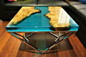Green Garden Resort Decorative Furniture Resin River Epoxy Wooden Walnut Table