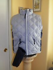 KELTY QUILTED PUFFER GOOSE DOWN OUTDOOR 3 SEASON VEST & POUCH WOMENS MED PRE-OWN
